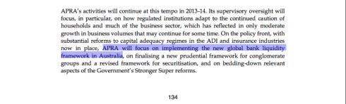 page 134, Portfolio Budget Statements, APRA, Australian Government Budget 2013-14