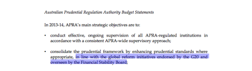 page 134, Portfolio Budget Statements, Australian Prudential Regulation Authority, Australian Government Budget 2013-14. CLICK TO ENLARGE