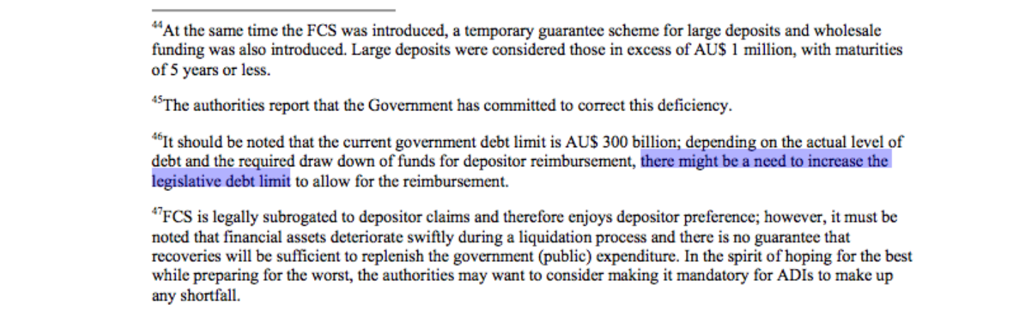 deposit guarantee schemes in australia and
