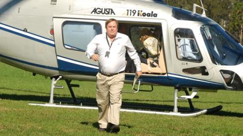 Clive Palmer arrives at Skilled Stadium for the launch of Gold Coast United Football Club in 2008. Picture: Riley Paul Source: News Limited