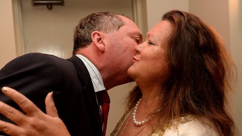 Billionaire Gina Rinehart turned up at Barnaby Joyce's post-election party in Tamworth. Picture: Peter Lorimer Source: The Australian